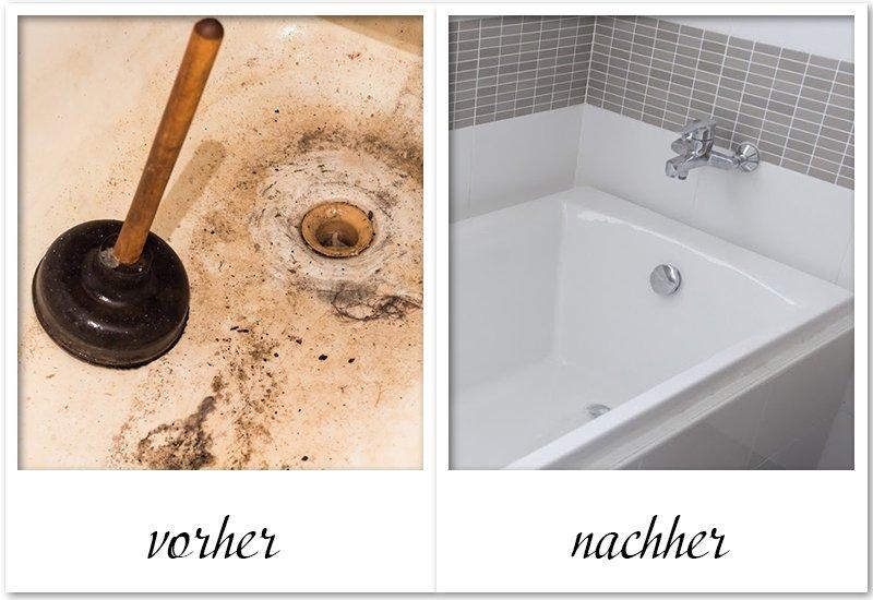 Verstopfte Abflusse Im Bad